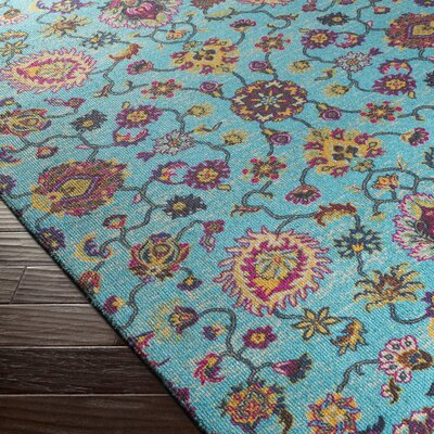 Emmie Blue Area Rug Rug Size: Rectangle 2 x 29