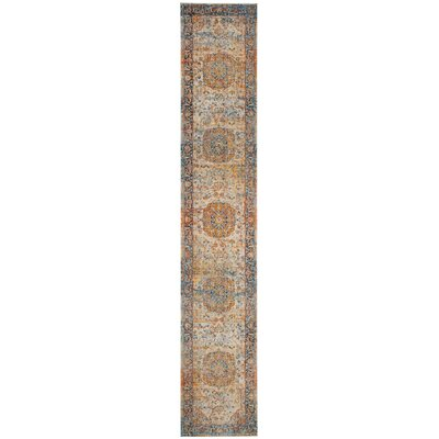 Marigold Blue/Orange Area Rug Rug Size: Runner 22 x 12