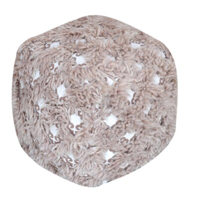 Kitty Pouf Ottoman Upholstery: Taupe