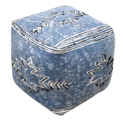 Gladstone Pouf Ottoman Upholstery: Indigo