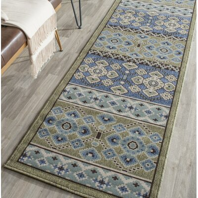 Serrano Green / Blue Area Rug Rug Size: Runner 23 x 8