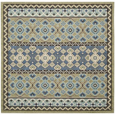 Zahr Green / Blue Area Rug Rug Size: Square 67
