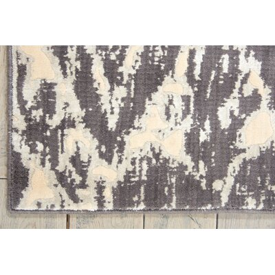 Shaima Dark Gray / Beige Area Rug Rug Size: 36 x 56