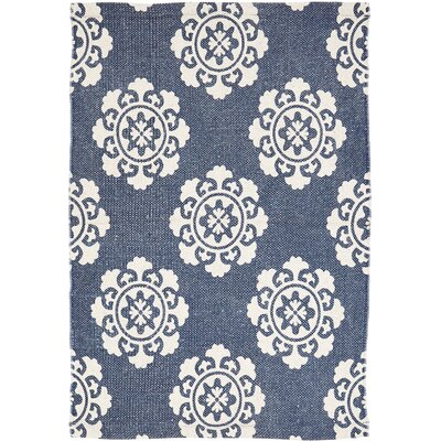 Ross Blue Area Rug Rug Size: 18 x 26