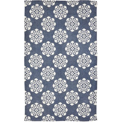 Ross Blue Area Rug Rug Size: 3 x 5