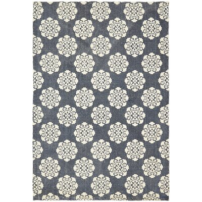 Ross Blue Area Rug Rug Size: 4 x 6