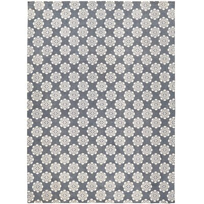 Ross Blue Area Rug Rug Size: 8 x 11