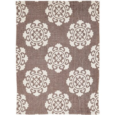 Ross Brown/Beige Area Rug Rug Size: 18 x 26