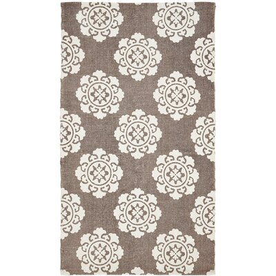 Ross Brown/Beige Area Rug Rug Size: 23 x 4