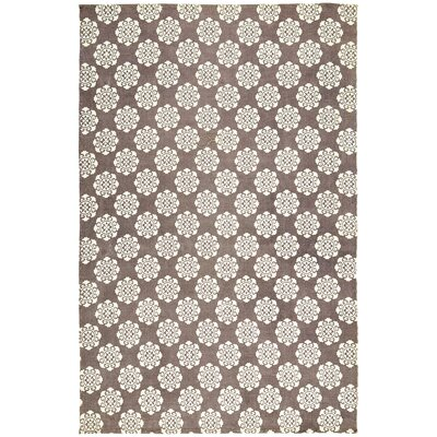 Ross Brown/Beige Area Rug Rug Size: 6 x 9