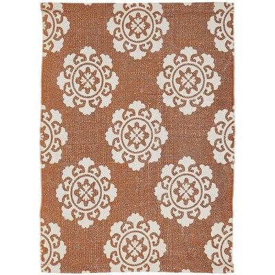 Ross Orange Area Rug Rug Size: 18 x 26