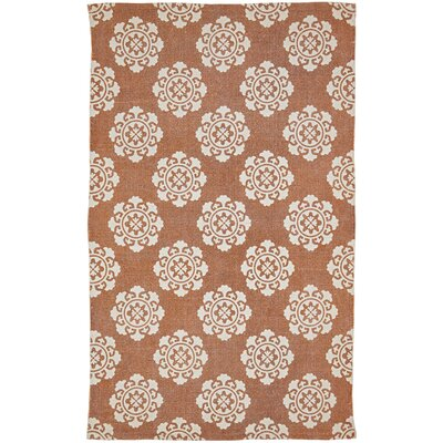 Ross Orange Area Rug Rug Size: 3 x 5