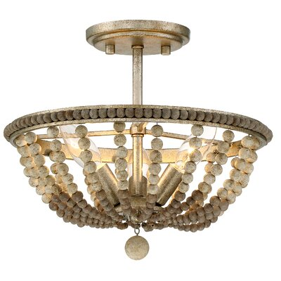 Center 3-Light Semi Flush Mount