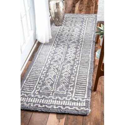 Radad Hand-Tufted Gray Area Rug Rug Size: Runner 26 x 8