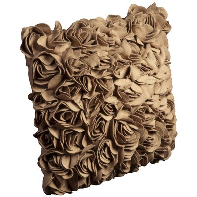 Nellie Wool Throw Pillow Size: 20 x 20, Color: Camel