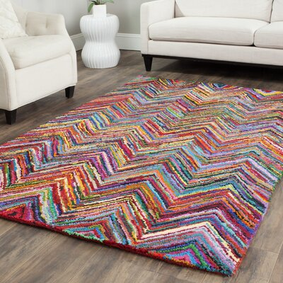 Barnes Hand Tufted Multi-Colored Area Rug Rug Size: Rectangle 4 x 6