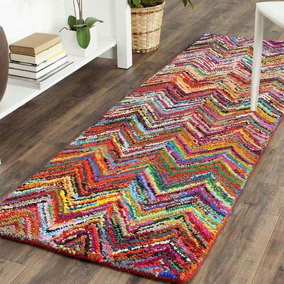Barnes Hand Tufted Multi-Colored Area Rug Rug Size: Runner 23 x 8