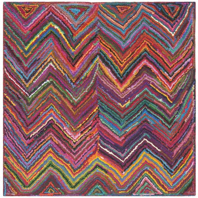 Barnes Hand Tufted Multi-Colored Area Rug Rug Size: Square 6
