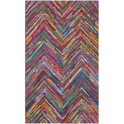 Barnes Hand Tufted Multi-Colored Area Rug Rug Size: 4 x 6