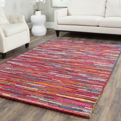 Sergio Pink Geometric Area Rug Rug Size: Rectangle 8 x 10