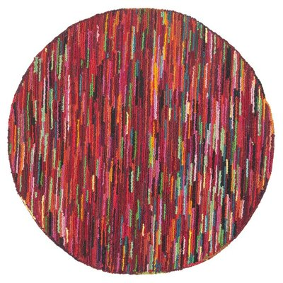 Sergio Pink Geometric Area Rug Rug Size: Round 8
