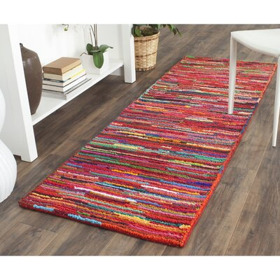 Sergio Pink Geometric Area Rug Rug Size: Runner 23 x 7