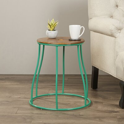 Mehdi Round End Table Finish: Green