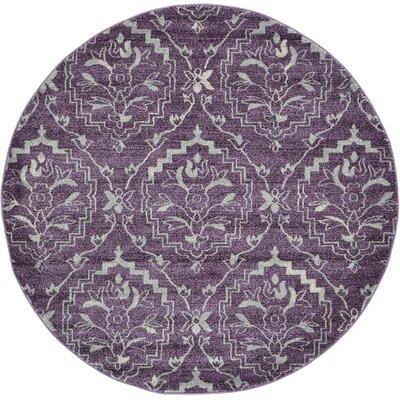 Ezequiel Purple Area Rug Rug Size: Round 6