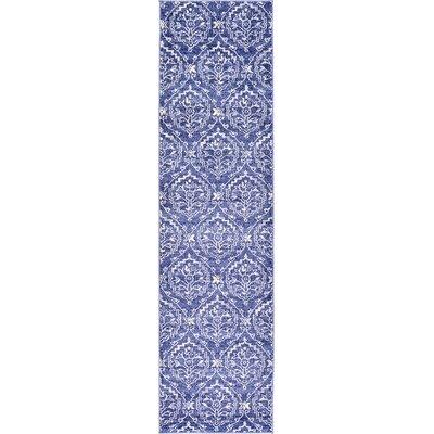 Ezequiel Blue Area Rug Rug Size: Runner 27 x 10