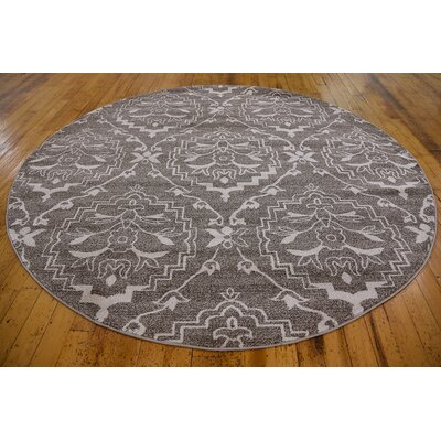 Ezequiel Light Brown Area Rug Rug Size: Round 8