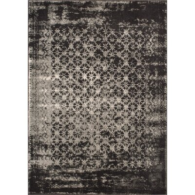 Allentow Modern Distressed Gray Area Rug Rug Size: 53 x 73
