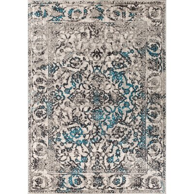 Allentow Traditional Blue Area Rug Rug Size: 53 x 73