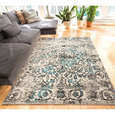 Allentow Traditional Blue Area Rug Rug Size: 33 x 47