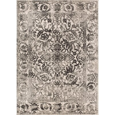Allentow Traditional Gray Area Rug Rug Size: 93 x 126