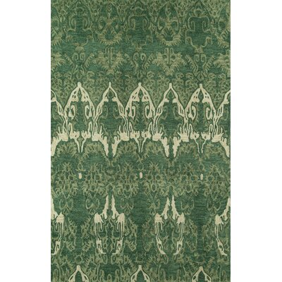 Allen Hand-Tufted Green Area Rug Rug Size: 3'6