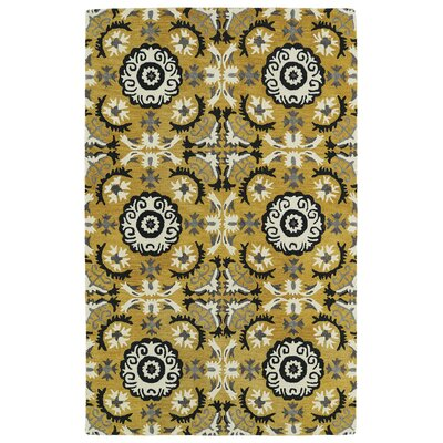 Powers Lake Yellow Area Rug Rug Size: 36 x 56