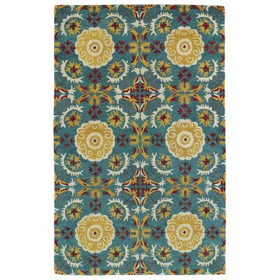 Powers Lake Turquoise Area Rug Rug Size: 2 x 3