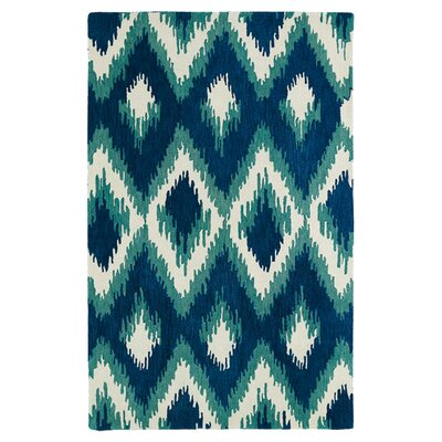 Powers Lake Blue & Green Area Rug Rug Size: 9 x 12