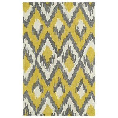 Powers Lake Yellow & Grey Area Rug Rug Size: 9 x 12