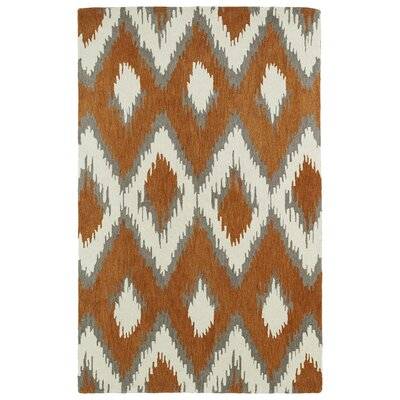 Powers Lake Paprika/White Area Rug Rug Size: Rectangle 8 x 10