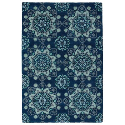 Rachida Hand Tufted Blue Area Rug Rug Size: 36 x 56