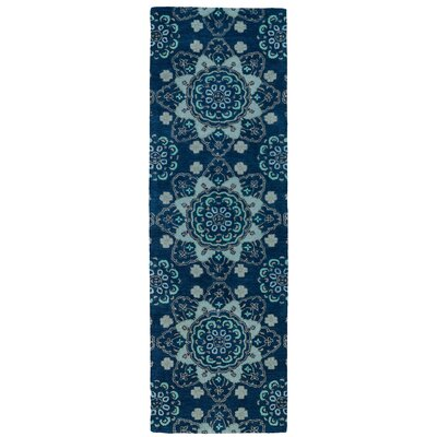 Rachida Hand Tufted Blue Area Rug Rug Size: Runner 26 x 8