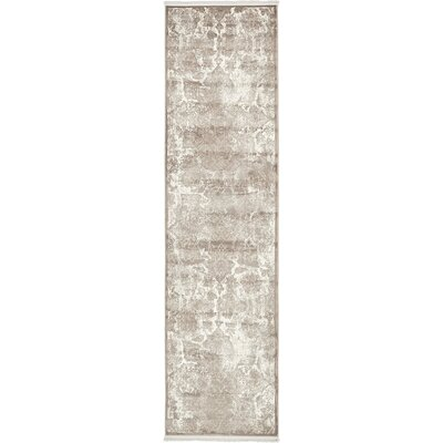 Jacobson Gray Area Rug Rug Size: Runner 27 x 10
