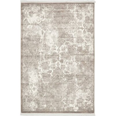 Jacobson Gray Area Rug Rug Size: 4 x 6