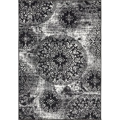 Ford Black Area Rug Rug Size: 5 x 8