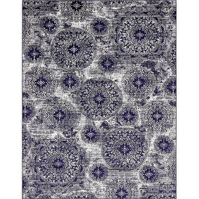 Ford Navy Blue Area Rug Rug Size: 9 x 12