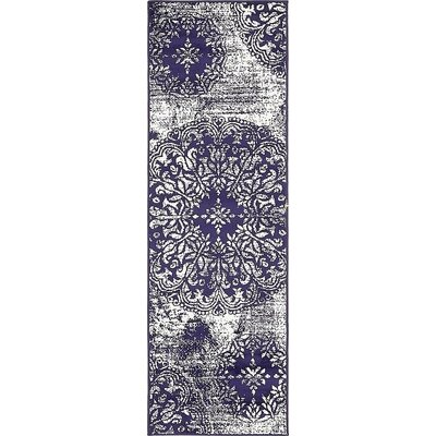 Ford Navy Blue Area Rug Rug Size: Runner 2 x 67