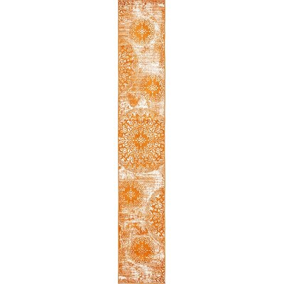 Brandt Orange Area Rug Rug Size: Runner 2 x 13