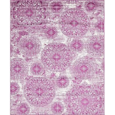 Ford Purple Area Rug Rug Size: 8' x 10'
