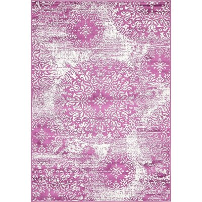 Ford Purple Area Rug Rug Size: 4 x 6